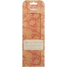 FIRST EDITION DECO MACHE DECOUPAGE PAPERS - ORANGE FLOWERS