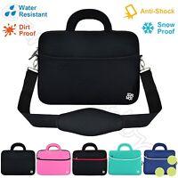 "Anti-Shock Slim 13"" 13.3"" Laptop Notebook Padded Shoulder Bag Carry Sleeve Cover"