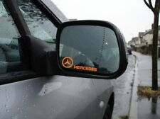 MERCEDES MIRROR DECAL STICKER (W124,AMG, E220,A,C,CLS,CLA,SLK,ML,CLASS,BARBUS)