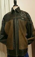 VINTAGE RARE DOLCE & GABANNA LEATHER JACKET XL TWO TONE DESIGNER