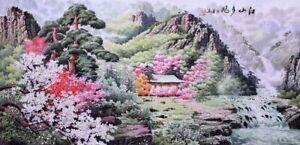 100% ORIENTAL FINE ART CHINESE SANSUI WATERCOLOR PAINTING-Wonderful Landscape