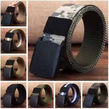 Mens Army Style Buckle Nylon Belt Sports Outdoor Waist Canvas Belt