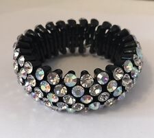 Women Bracelet Stretch Bling Fashion Jewelry Formal Club Party Fits 6 3/4 to 9