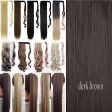 """100% New 18-26"""" Wrap Around Ponytail Clip In Hair Extensions Real Thick As Human"""