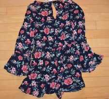 Women's Romper size M American Eagle Outfitters navy floral bell sleeves NWT!