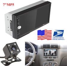 "7"" 2DIN Auto Car MP5 Player Bluetooth Touch Screen Stereo Radio HD + Rear Camera"