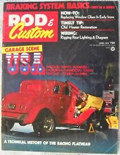 Rod & Custom April 1973 Traditional Hot Rat Street