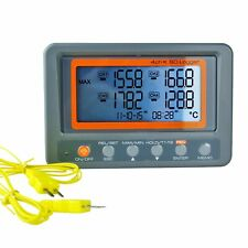 K Type 4 Channel Thermocouple Thermometer SD Card Temperature Logger Backlight