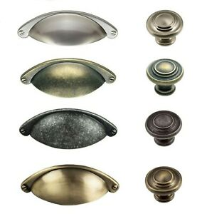 CUP OR KNOB HANDLES SHAKER KITCHEN CABINET DOORS & DRAWERS FTD