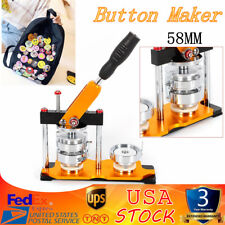 Button Maker Badge Press Machine for 58mm Button Badge+100 Making Supplies Mold