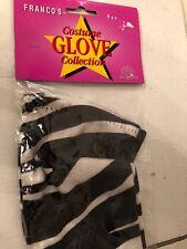 """Zebra Animal Print Velvet Long Gloves (16"""") Halloween Costume Accessory - NEW!"""