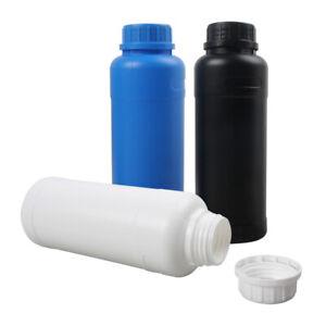 3x 500ml Darkroom Chemical Potion Storage Plastic Bottles Film Negative Develop