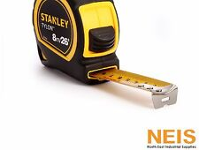 "Stanley Tape Measure 8M /26' x 25mm/1"" mms- inches Tylon Coated Tape Rule 30-394"