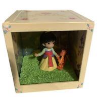 New Precious Moments Disney Showcase 2016 LED Cube Princess Mulan Shadow Box