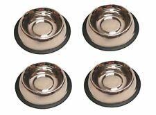 Set of 2 Anti-Skid 16 oz Metal Dog Bowls for Food and Water
