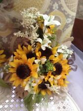 wedding flower bouquets bridal decorations sunflowers add your colors