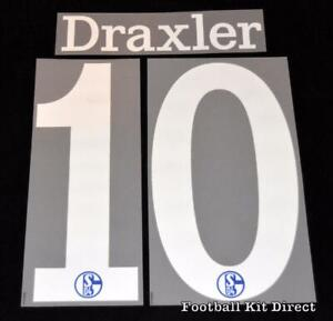 Official Schalke 04 Draxler 10 Football Name/Number Set 2014/15 Home Bundesliga