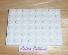 2x Lego Plate 6 x 8 White 10245