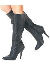 aae057d7b3fe08 Pleaser Vanity-2013 Damen High Heels Stiefel schwarz Lederoptik Übergröße  37-45
