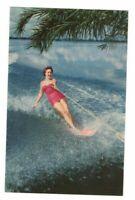 C.1970 Cypress Gardens Fl Beautiful Water Skier Postcard