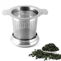 Stainless Steel Mesh Tea Coffee Infuser Cup Strainer Loose Leaf Filter with Lid