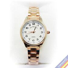 Reloj de pulsera Eve Mon Crois Diseño Marca Lujo Clásico Metal Dorado Gift 2018