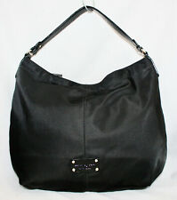 KATE SPADE Denise Black Nylon Hobo PXRU1916 Zip Top Gold Hardware