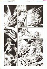 Trinity #38 p.5 - Donna Troy Lois Superman & Batman art by/signed by Mark Bagley