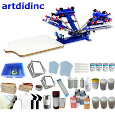 Micro Adjust 4 Color 1station Screen Printing Kit With Materials Ink Squeegee
