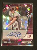 2020 Prizm Draft Asa Lacy Cracked Ice Burgundy Auto 12/12! 4th Overall Pick!