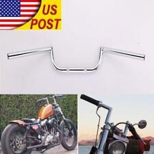 US Chrome 7/8'' Drag Bar Motorcycle Handlebars for Custom Chopper Brat Rat Cafe