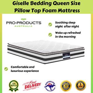 Giselle Pillow Top Spring Foam Queen Matress Bedding Hypo Allergenic