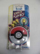 GB -- Stereo Headphones Pikachu -- New!! Box. Game Boy, JAPAN.