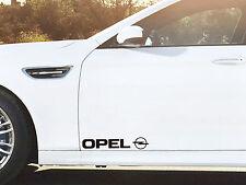 2 x Aufkleber für Tür passt Opel Astra Corsa Insignia Vectra Omega Emblem Logo S