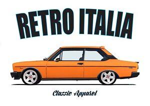 FIAT 131 SPORT (RACING) t-shirt. RETRO ITALIA. CLASSIC CAR.