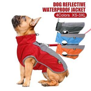 XS-3XL Pet Dog Clothes Reflective Waterproof Winter Fleece Warm Jacket Coat Vest