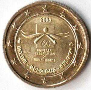 Belgium 2 euro 2008 Declaration of Human Rights UNC (#1402)