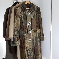 Cappotto Donna Next Next Taglia 16 Verde Tweed Taglia 16 65% LANA NUOVO SENZA ETICHETTA
