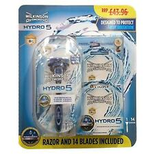 Wilkinson Sword Hydro 5 Razor and 14 Blades Pack Mens Hydrating Shave Set
