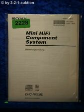Sony Bedienungsanleitung DHC NX5MD Component System (#2228)