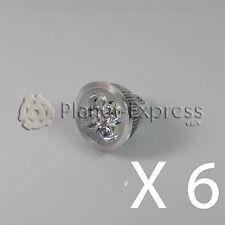 6 x Glühbirne 4W LED MR16 GU5.3 Weiß Warm 12V 350 lumen Unter Verbrauch equi.40W