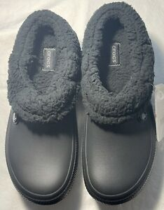 New Men's CROCS Blitzen III Lined Black Shoes Clogs Size 11 FREE SHIPPING