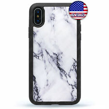 For iPhone 11 Pro Max Xs XR 8 Plus 7 Black White Marbel Stone Granit Case Cover