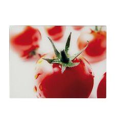 Glas Schneideplatte, groß, 40x30cm, Motiv Tomate, Schneidebrett, Tranchierbrett