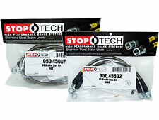Stoptech Stainless Steel Braided Brake Lines (Front & Rear Set / 45007+45502)