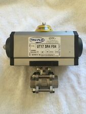 "NEW Tru-Flo QSM Air Operated 3/4"" Stainless Steel Ball Valve UT17 SR4 F04"
