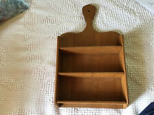 Small Primitive  Unique Wood Shelf Shaped Like A Bread Board