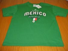 NEW  WORLD BASEBALL CLASSIC MLB MEXICO GREEN COTTON T-SHIRT YOUTH S MAJESTIC