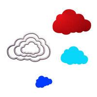3pcs flaky clouds metal cutting dies stencil scrapbook album embossing craft  SL