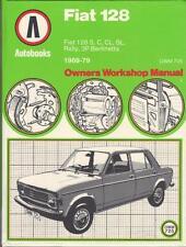 FIAT 128,3P BERLINETTA,RALLY,SPECIAL,C,CL,SL AUTOBOOKS WORKSHOP MANUAL 1969-1979
